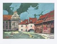Brama Wodna i budynki Muzeum od strony ul. Spichrzowej