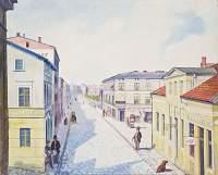 Fragment ul. Wybickiego i Rybnego Rynku w Grudziądzu