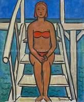Kobieta w kostiumie kąpielowym