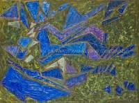 Kompozycja zielono-fioletowa