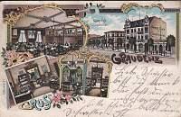 Pocztówka - Gruss aus Graudenz z widokiem kawiarni
