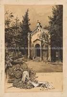 W 100. rocznicę urodzin Helmutha Karla Bernharda Grafa von Moltke (widok mauzoleum z herbem w narożniku pracy)